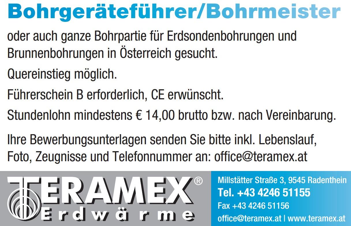 Inserat Bohrgeräteführer